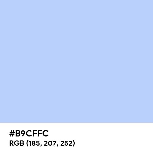 Pale Cornflower Blue (Hex code: B9CFFC) Thumbnail