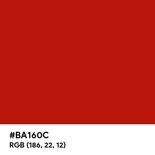 International Orange (Engineering) (Hex code: BA160C) Thumbnail