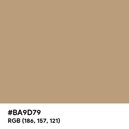 Dark Tan (Hex code: BA9D79) Thumbnail