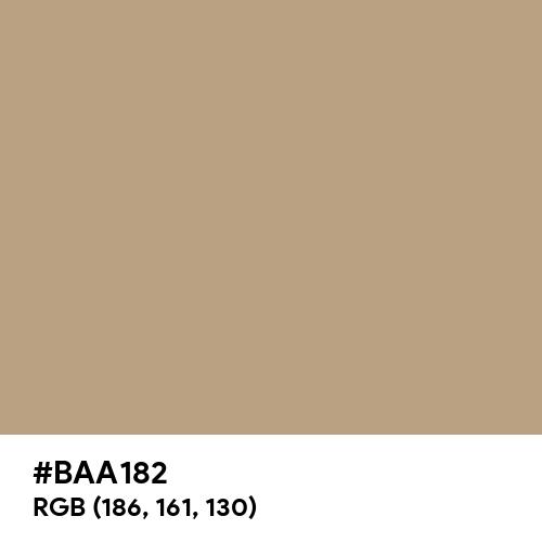 Dull Beige (Hex code: BAA182) Thumbnail