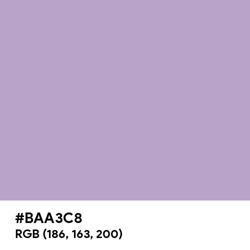Lilac (Hex code: BAA3C8) Thumbnail