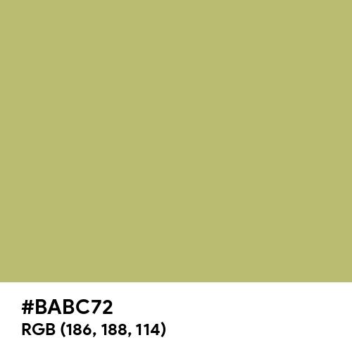 Green Banana (Hex code: BABC72) Thumbnail