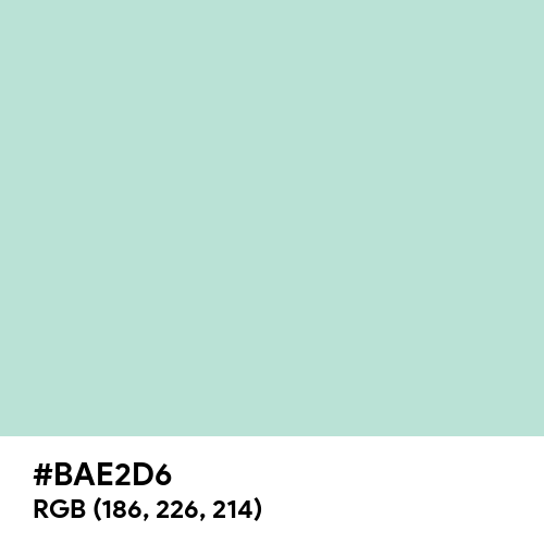 Pale Jade (Hex code: BAE2D6) Thumbnail