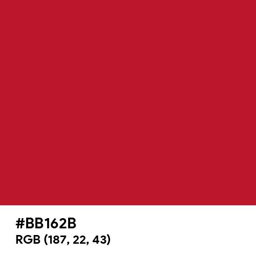 Kia Red (Hex code: BB162B) Thumbnail