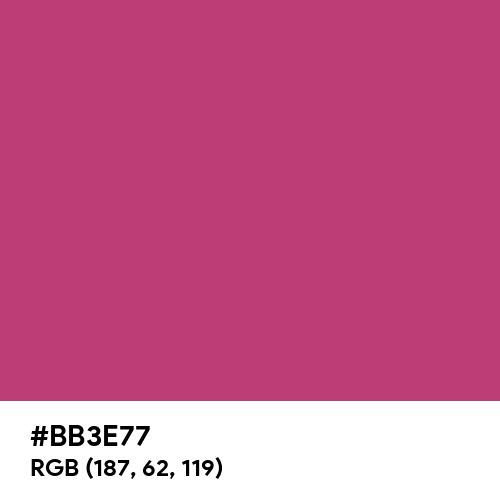 Telemagenta (Hex code: BB3E77) Thumbnail