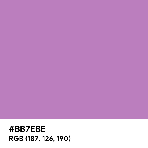 African Violet (Hex code: BB7EBE) Thumbnail