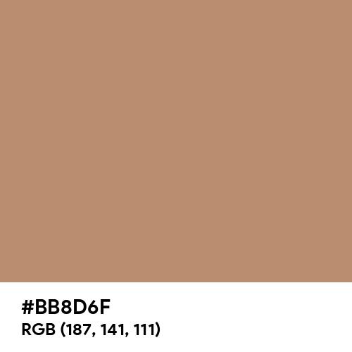 Matte Brown (Hex code: BB8D6F) Thumbnail