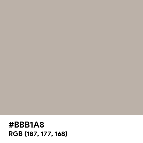 Chateau Gray (Hex code: BBB1A8) Thumbnail