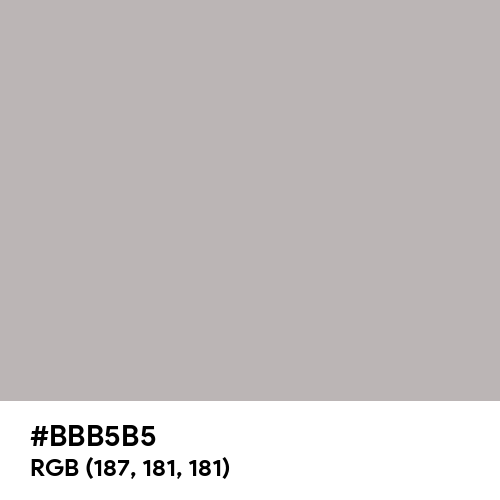 Black Shadows (Hex code: BBB5B5) Thumbnail