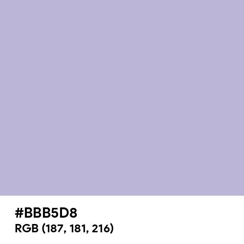 Soft Violet (Hex code: BBB5D8) Thumbnail