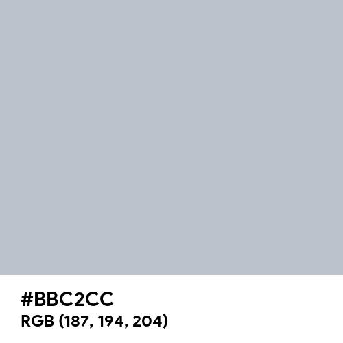 Glossy Silver (Hex code: BBC2CC) Thumbnail