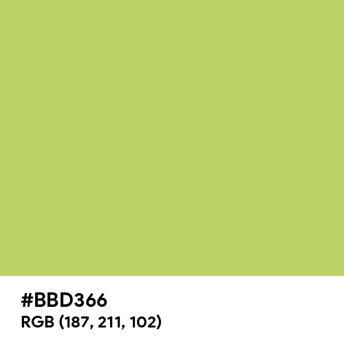 June Bud (Hex code: BBD366) Thumbnail
