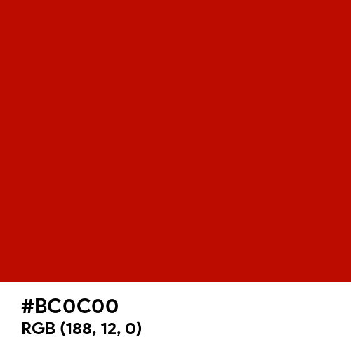 UE Red (Hex code: BC0C00) Thumbnail