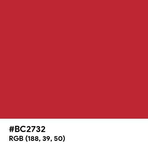 Mars Red (Pantone) (Hex code: BC2732) Thumbnail