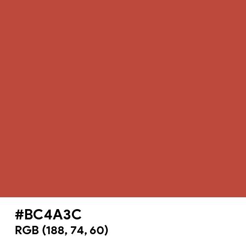 Brick (Hex code: BC4A3C) Thumbnail