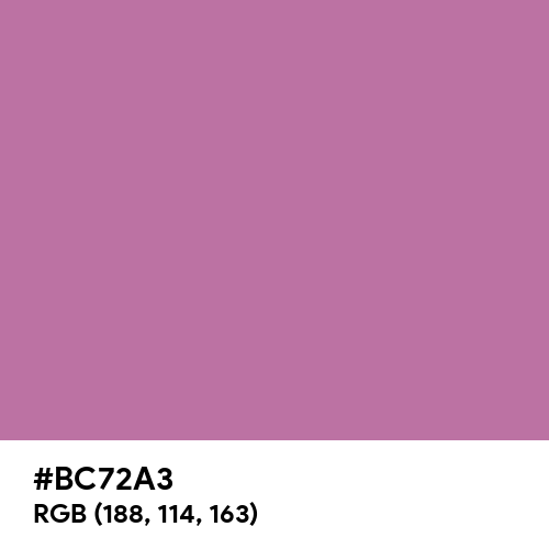Pearly Purple (Hex code: BC72A3) Thumbnail