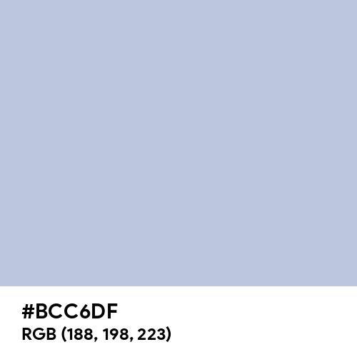Violet Scent Soft Blue (Hex code: BCC6DF) Thumbnail