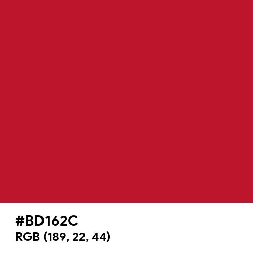 Racing Red (Pantone) (Hex code: BD162C) Thumbnail