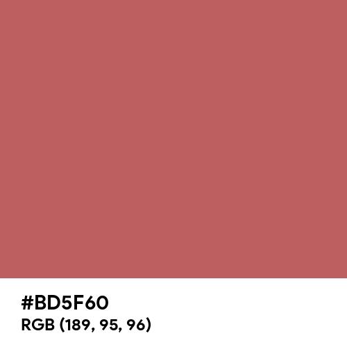 Pastel Blood (Hex code: BD5F60) Thumbnail