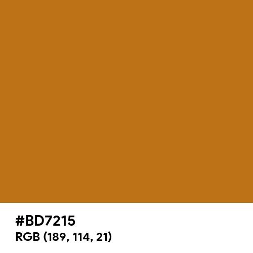 Light Brown (Hex code: BD7215) Thumbnail