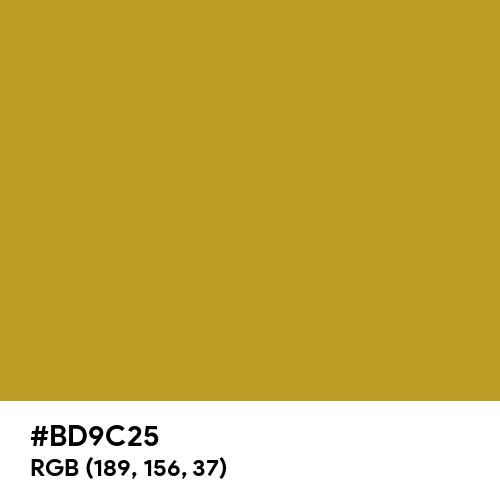 Gold Foil (Hex code: BD9C25) Thumbnail