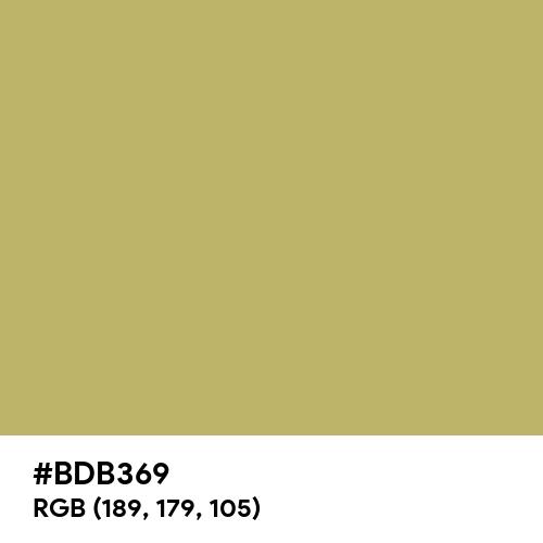 Golden Green (Hex code: BDB369) Thumbnail
