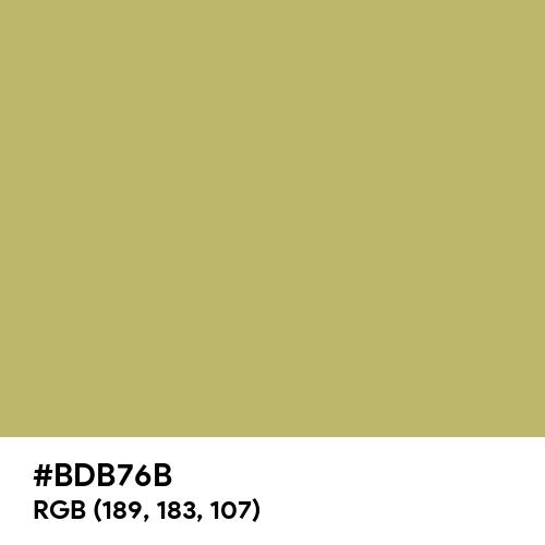 Dark Khaki (Hex code: BDB76B) Thumbnail