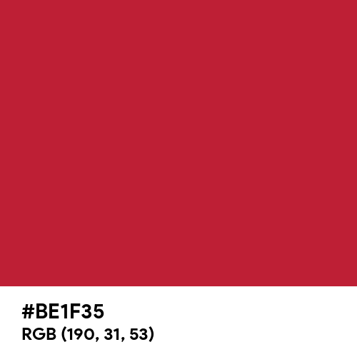 Spring Red (Hex code: BE1F35) Thumbnail