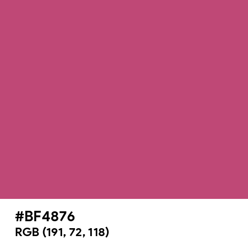 Fuchsia Rose (Hex code: BF4876) Thumbnail