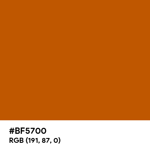 Burnt Orange (Hex code: BF5700) Thumbnail