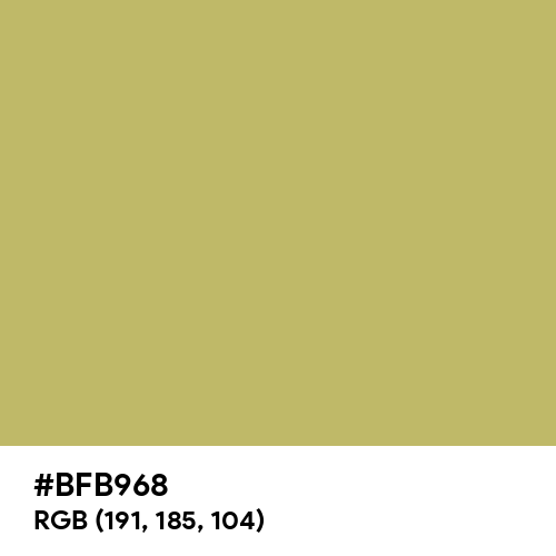 Dark Khaki (Hex code: BFB968) Thumbnail