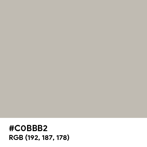 Calm Grey (Hex code: C0BBB2) Thumbnail
