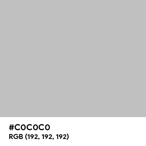 Pale Grey (Hex code: C0C0C0) Thumbnail