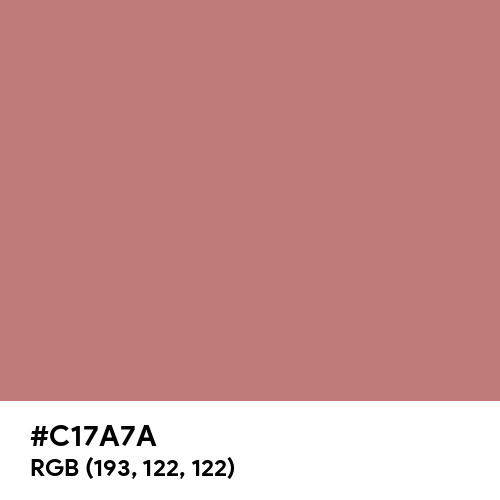 Old Rose (Hex code: C17A7A) Thumbnail
