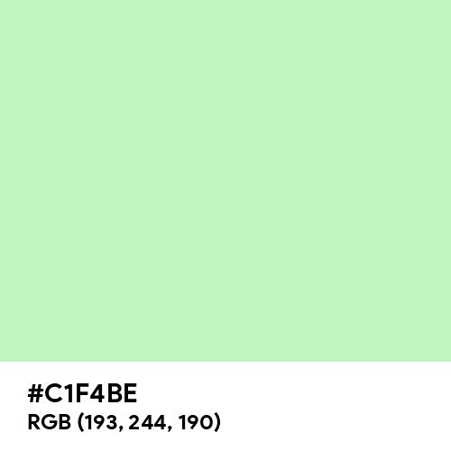 Tea Green (Hex code: C1F4BE) Thumbnail