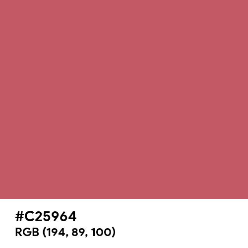 Pastel Wine Red (Hex code: C25964) Thumbnail