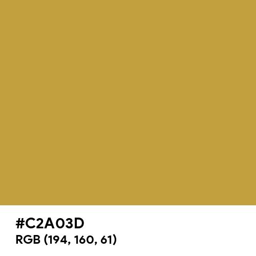 Rustic Gold (Hex code: C2A03D) Thumbnail