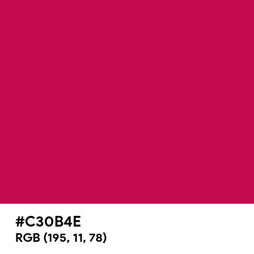 Pictorial Carmine (Hex code: C30B4E) Thumbnail