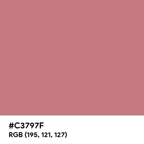 Begonia Rose (Hex code: C3797F) Thumbnail