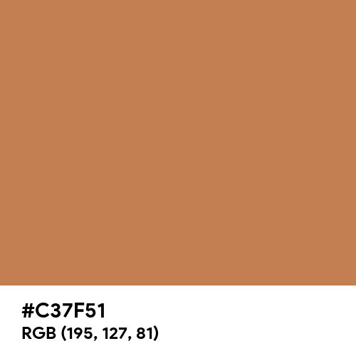 Maple Syrup (Hex code: C37F51) Thumbnail