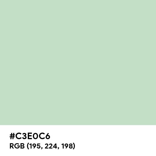 Celadon (Hex code: C3E0C6) Thumbnail
