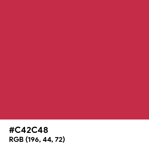 French Raspberry (Hex code: C42C48) Thumbnail