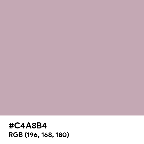 Faded Pink (Hex code: C4A8B4) Thumbnail