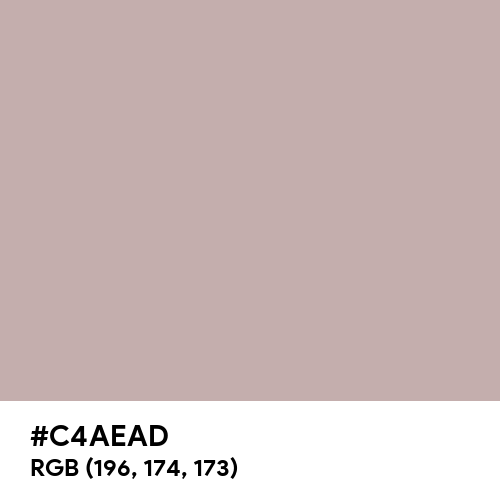 Silver Pink (Hex code: C4AEAD) Thumbnail