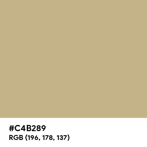 Khaki Traditional (Hex code: C4B289) Thumbnail
