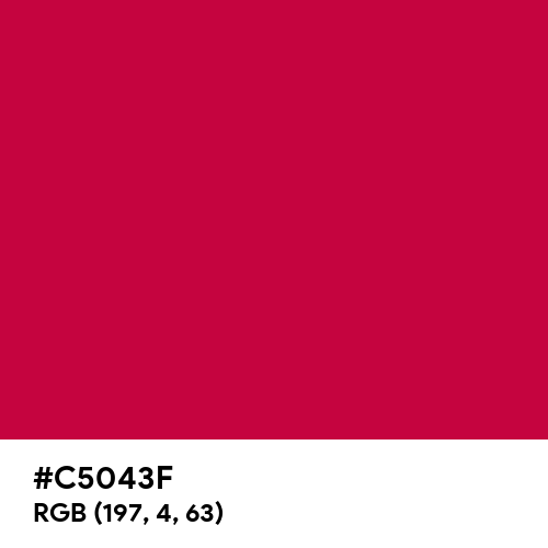 Infra Red (Hex code: C5043F) Thumbnail