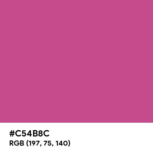 Mulberry (Hex code: C54B8C) Thumbnail