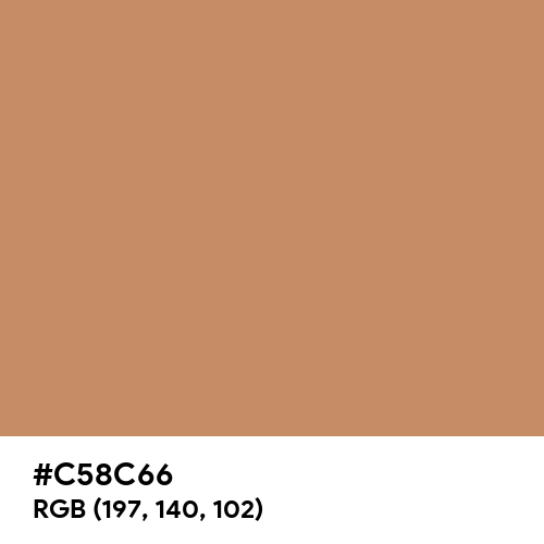 Cinnamon (Hex code: C58C66) Thumbnail