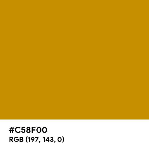 Honey Yellow (Hex code: C58F00) Thumbnail