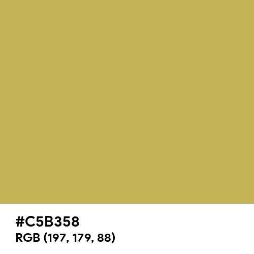 Vegas Gold (Hex code: C5B358) Thumbnail